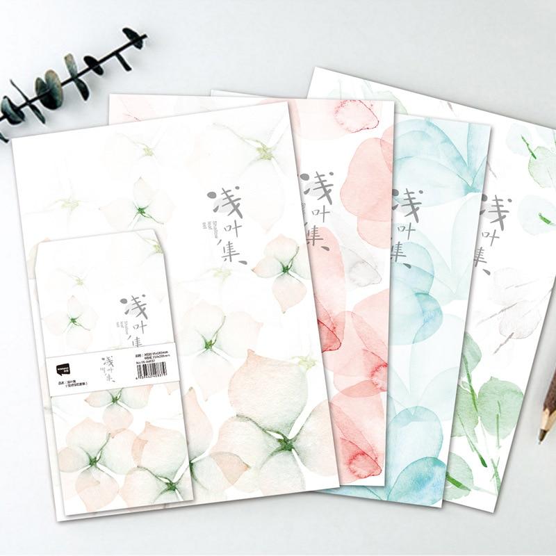 Coloffice 3PCs Envelope+6PCs Letter Paper Small Fresh Students Flower Envelope Stationery