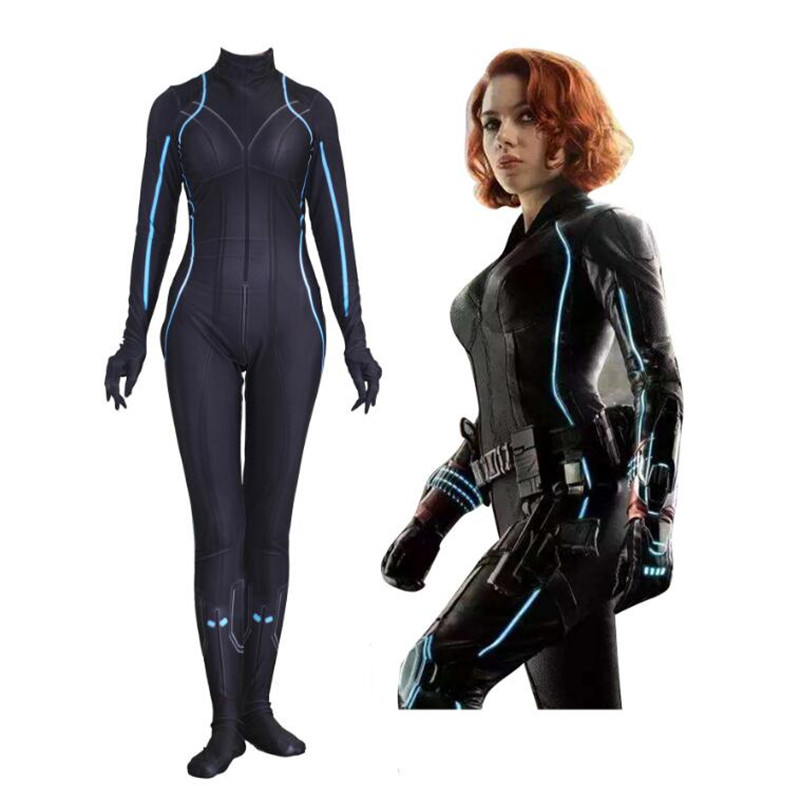Superhero Movie The Avengers Black Widow Tights Cosplay Costumes Accessories Zentai Halloween Leotard Women
