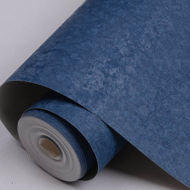 PVC Wallpapers Solid Embossed Vinyl wallpapers blue for Modern Living room wall paper roll for walls