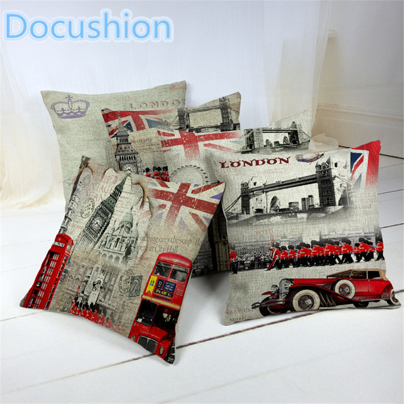 Free shipping 2015 fashion european decorative cushions london style throw pillows car home - Enhance your home decor with fancy cushions ...