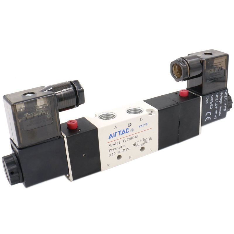 AIRTAC 4V230-08C 5 Way 3 Position 1/4 Pneumatic Solenoid Valve  DC12V DC24V AC110V AC220VAIRTAC 4V230-08C 5 Way 3 Position 1/4 Pneumatic Solenoid Valve  DC12V DC24V AC110V AC220V