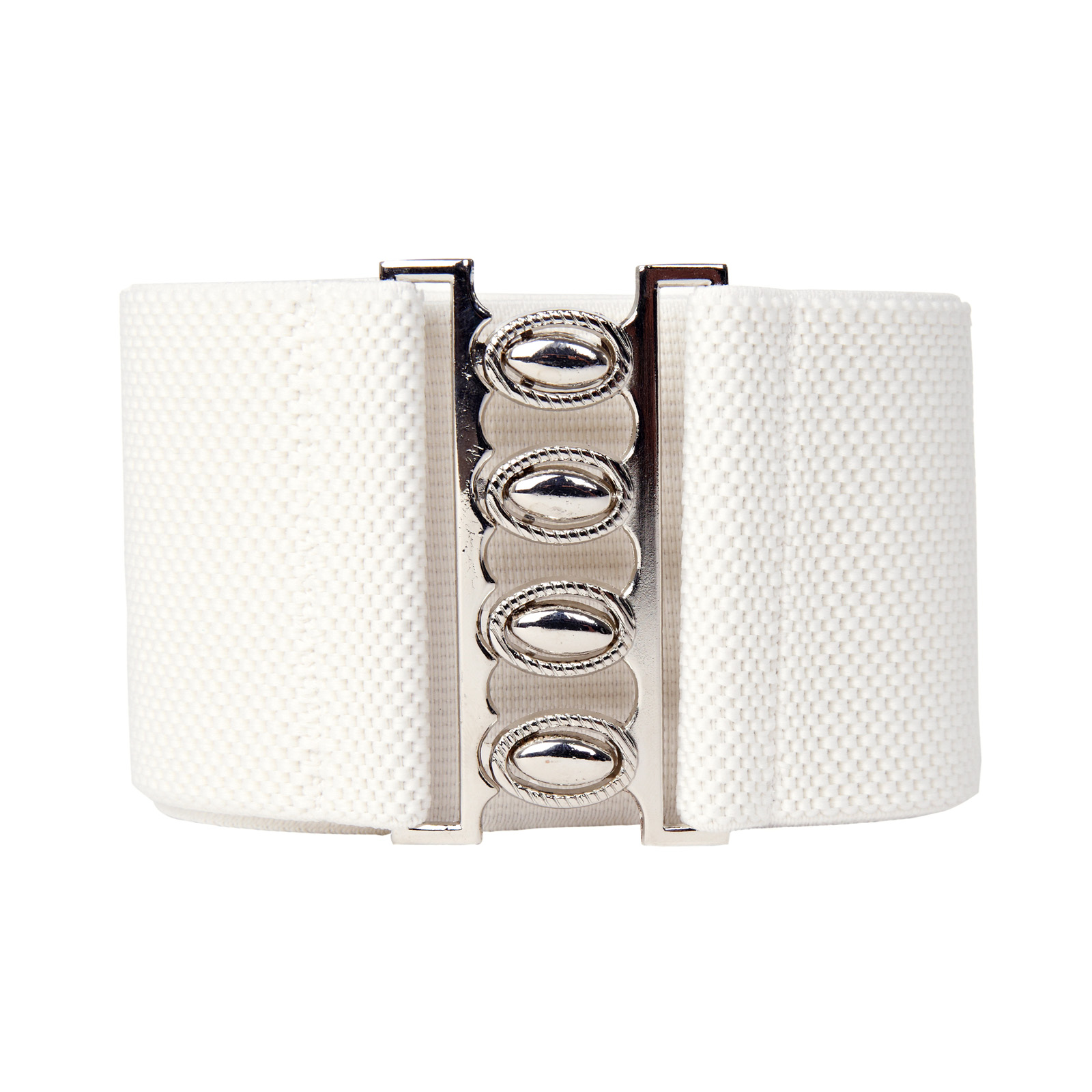 Fashion Ladies   belts   Wide Metal Hook Elastic women's Waist   Belt   Waistband black off white red 2019 new