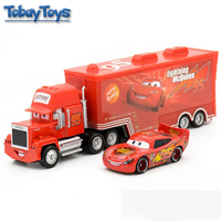 Pixar Cars Mcqueen Mack Truck Toy 6 Style 6 Colors Wheel 1:55 Lighting Racing Cars3 Separable Transporter Truck Christmax Gift