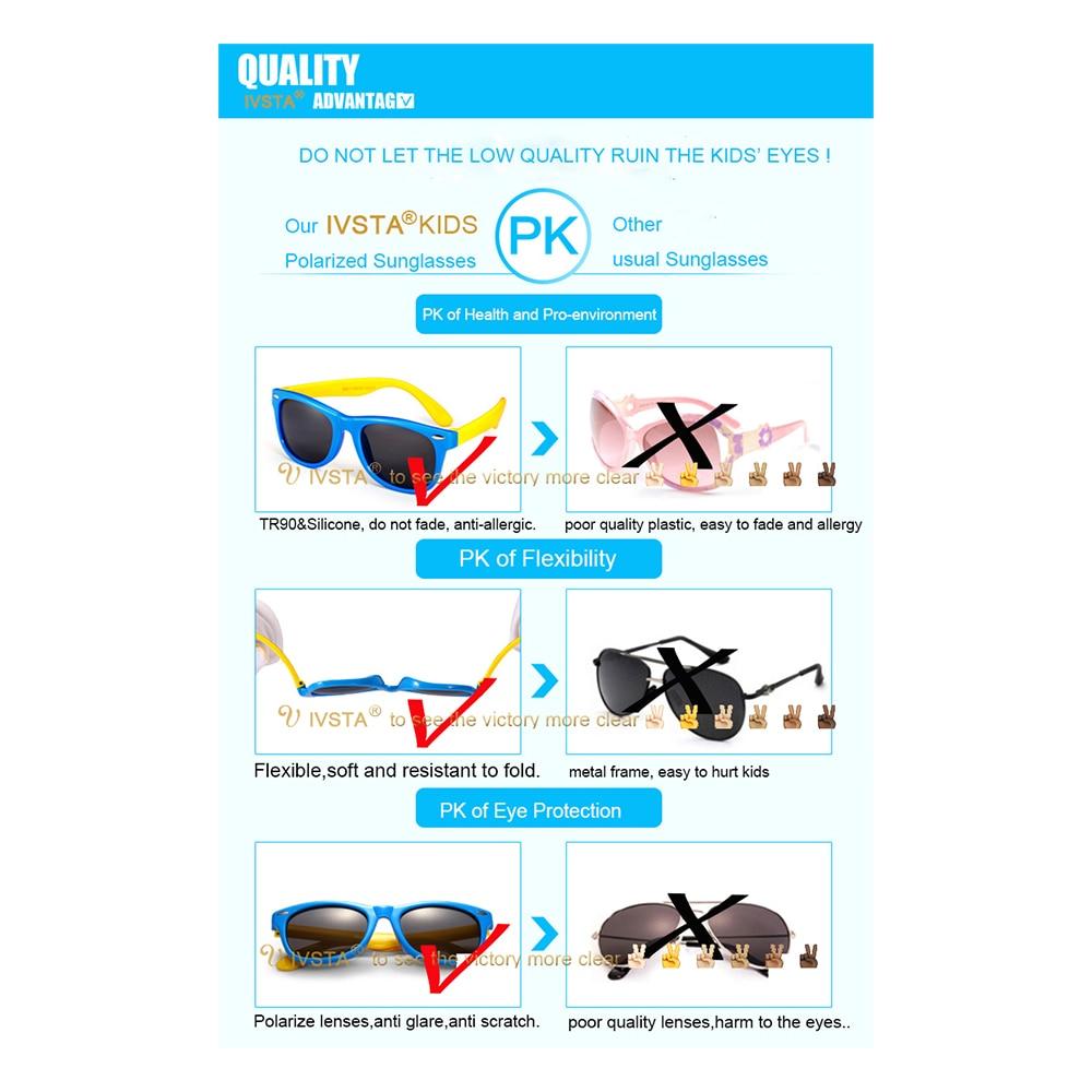 IVSTA Kinder Sonnenbrille Jungen Silikonband Polarisiert Flexibel - Bekleidungszubehör - Foto 4