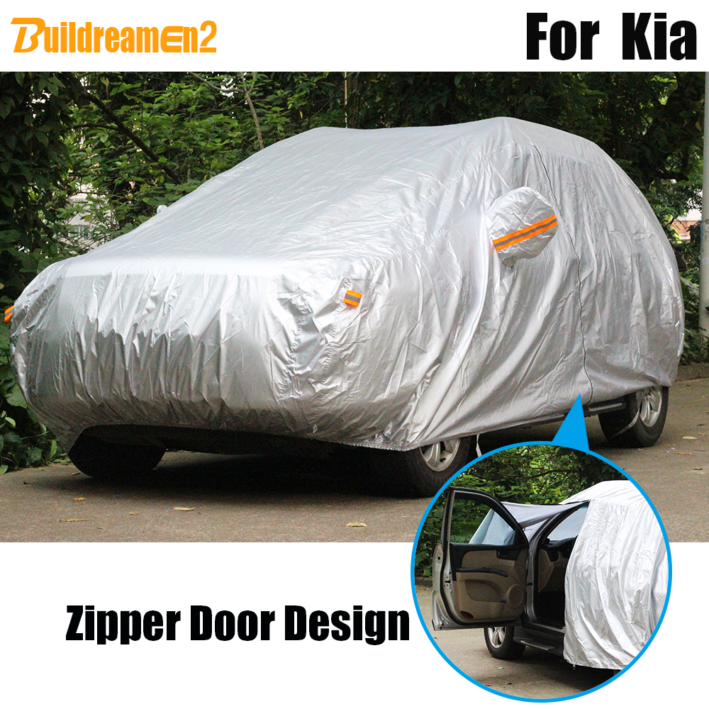 Buildreamen2 Full Car Cover Outdoor Sun Snow Rain Dust Protection Cover Waterproof For Kia K5 K9