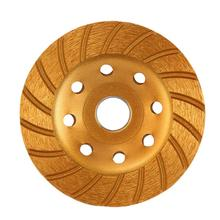 цена на Large Agglomerate Diamond Bowl Mill Diamond Coated Grinding Wheel Marble Disc For Angle Grinder Tool