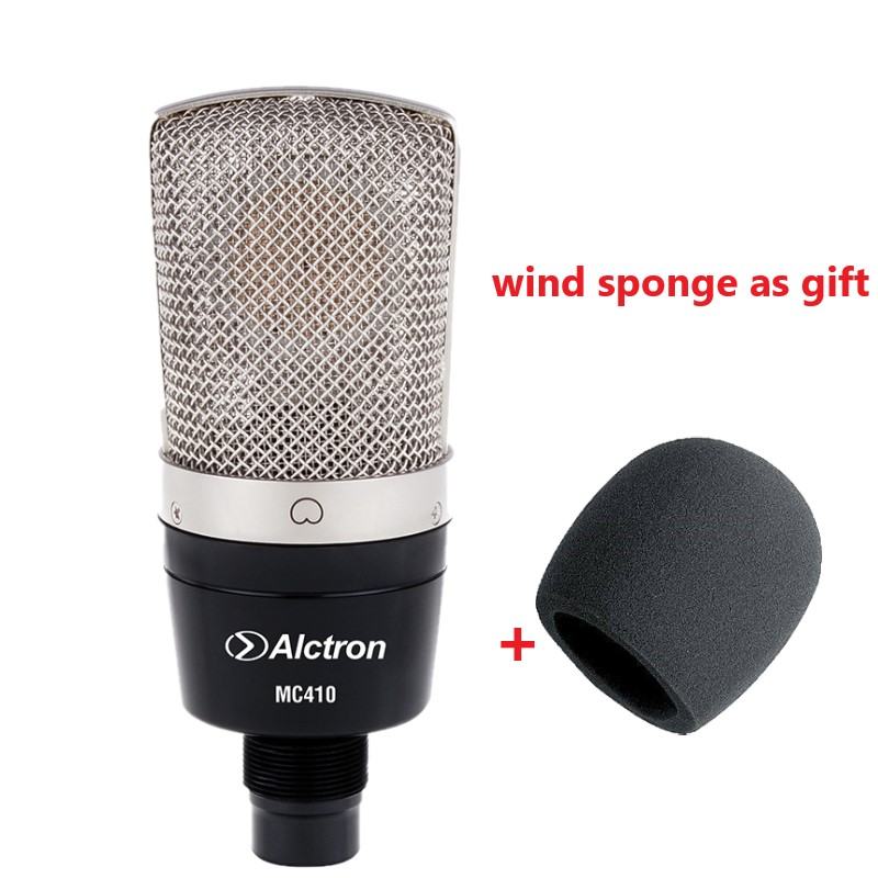 High Quality Alctron MC410 condenser microphone capacitor Cardioid large diaphragm condenser recording microphone for computer