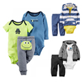 Baby Boy Clothes Spring Baby Girl Clothing Sets Autumn Newborn Baby Clothes 3Pcs/set Baby Rompers Roupas Bebe Infant Jumpsuits