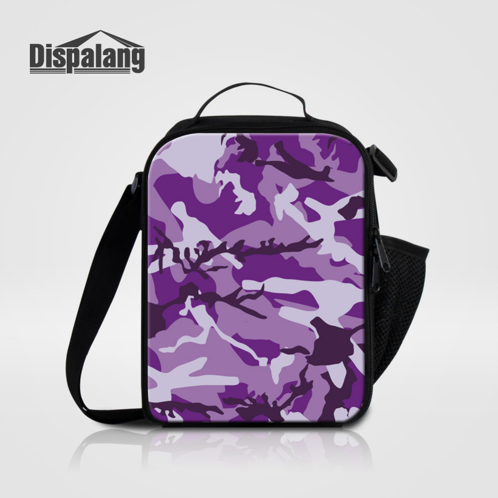 Dispalang Thermo Lunch Bags for Kids Camo Pattern Thermal Food Bag Lunchbox Insulated Meal