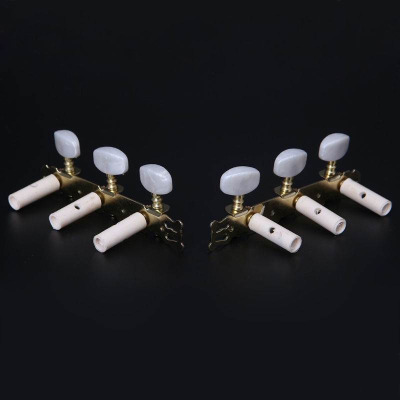 Купить с кэшбэком 2 Gilding Classical Guitar Tuning Pegs Machine Keys Heads Tuning Tuner Mechanical Pegs For Guitar