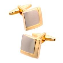 QiQiWu Gold Cufflinks For Mens Shirt Wedding High Quality Cuff links Men Shirts Cufflink Luxury Link Gift
