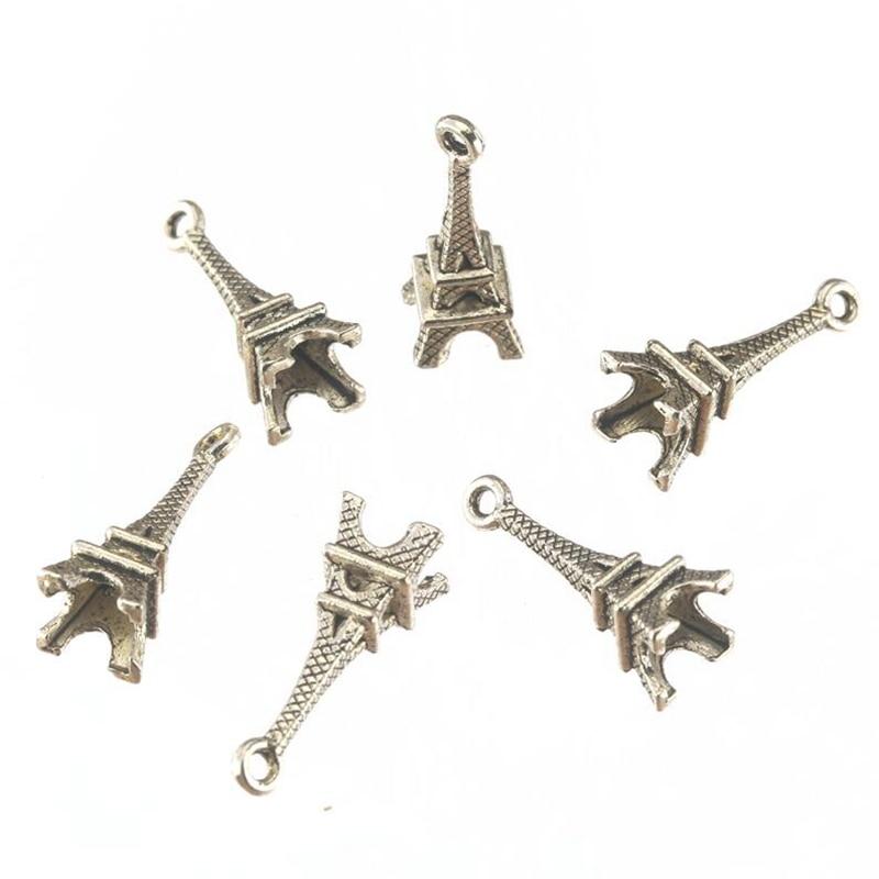 Retro Alloy Eiffel Tower  Charm Bracelet Necklace Pendant Jewelry Findings