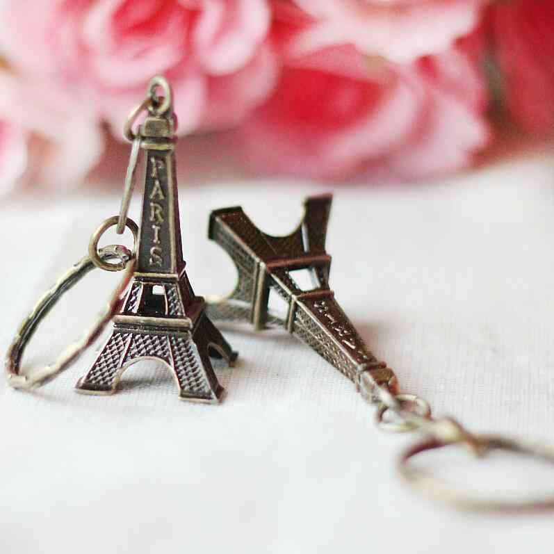 2018 Clef Retro Mini Dekoration Eiffelturm Keychain Paris Tour Kette Halter Ring Tasche Charme Anhänger Geschenk Geschenke für Frauen