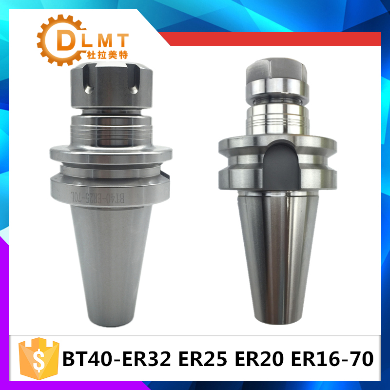 New bt40-er32 BT40 ER32 ER25 ER20 ER16 70L Spring Collet Chuck CNC Toolholder Milling Lathe Cutter bt40 er25 collet chuck toolholder 70mm long for cnc machining center new