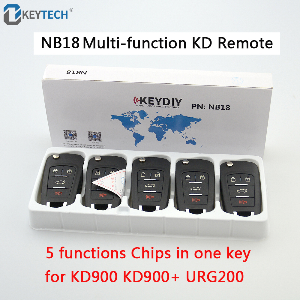 OkeyTech 5PCS LOT NB18 All Functions Chips In One Key Universal Multi functional Remote Control Car