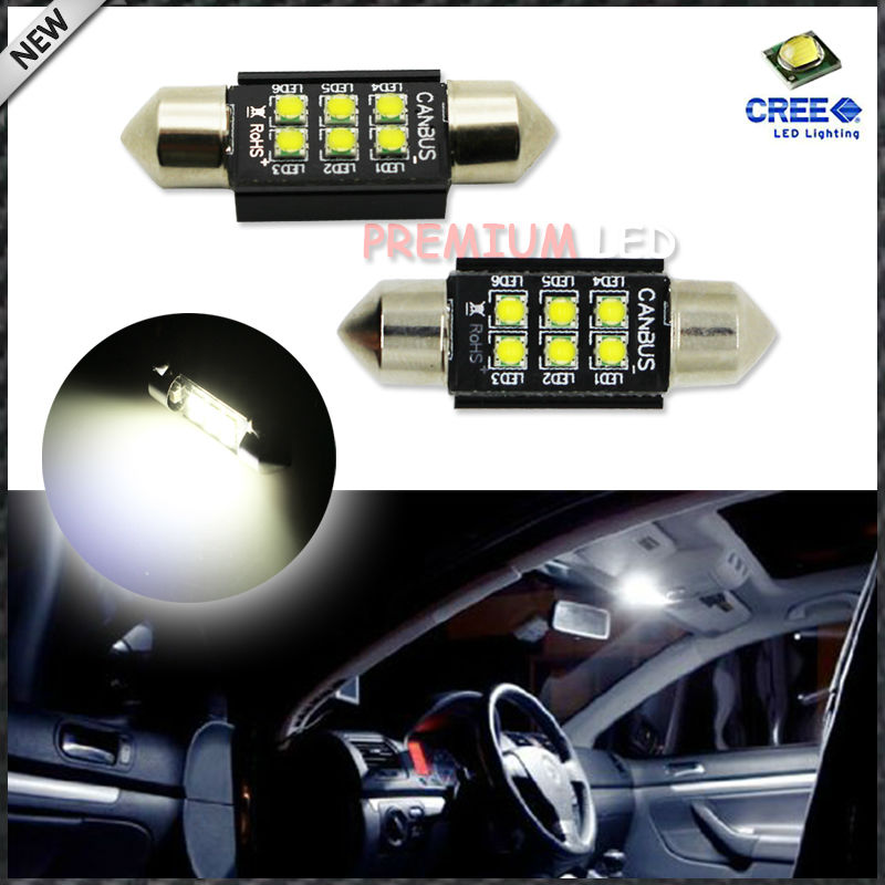 Xenon White 1.50 36mm 6418 C5W CANbus LED Bulbs, Error Free For Audi BMW Mercedes Porsche VW Interior Map or Dome Lights carprie super drop ship new 2 x canbus error free white t10 5 smd 5050 w5w 194 16 interior led bulbs mar713