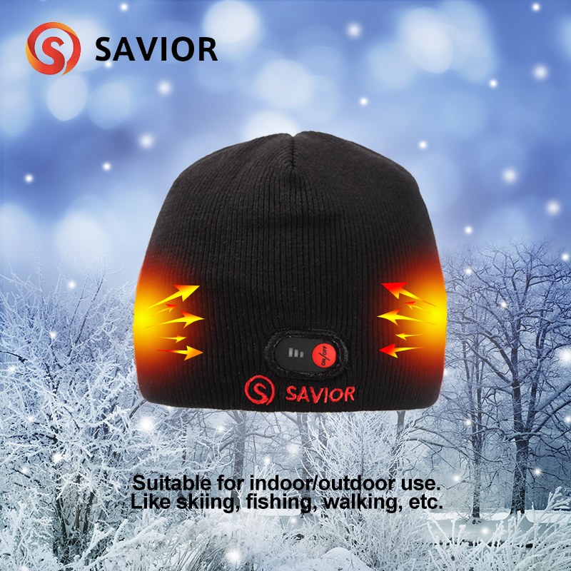 Savior heated hat winter heating caps outdoor biking old people working safety health heat head keep warming women
