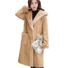 Artificial Fur Coat In The Women's Winter New Han Edition Imitation Lambs Wool Long Straight With Thick Coat   Faux Fur Jacket