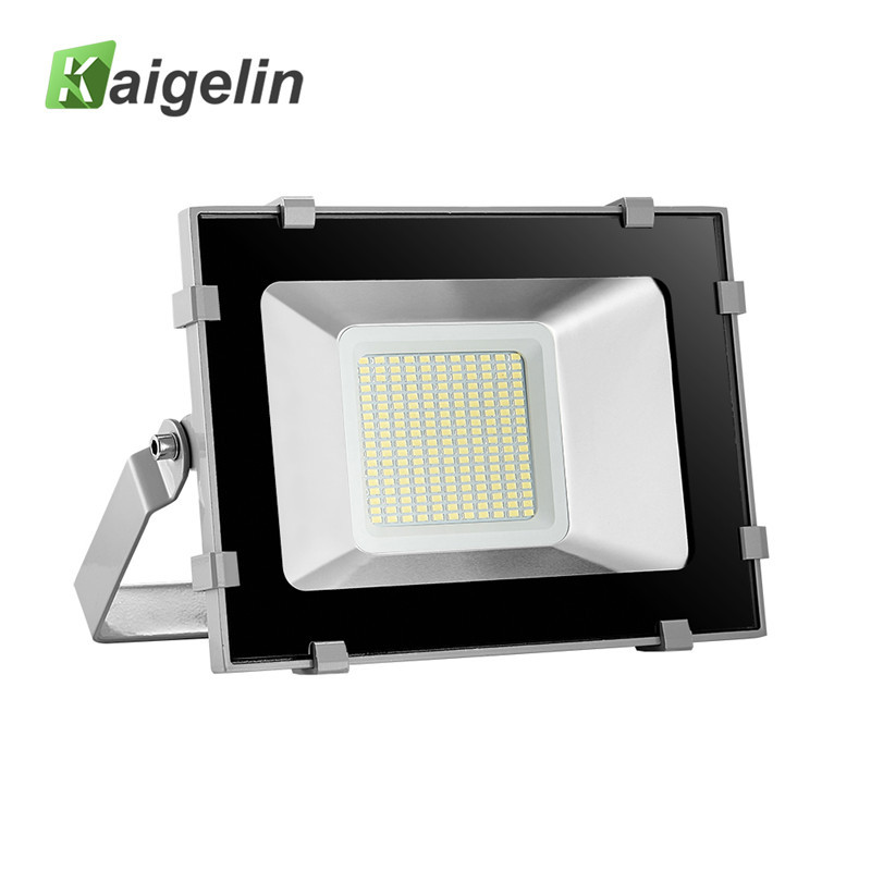 Kaigelin New Design 100W LED Flood Light 12000LM Waterproof 198 LED Reflector Floodlight Spotlight For Outdoor Garden Lighting 2017 ultrathin led flood light 70w cool white ac110 220v waterproof ip65 floodlight spotlight outdoor lighting free shipping