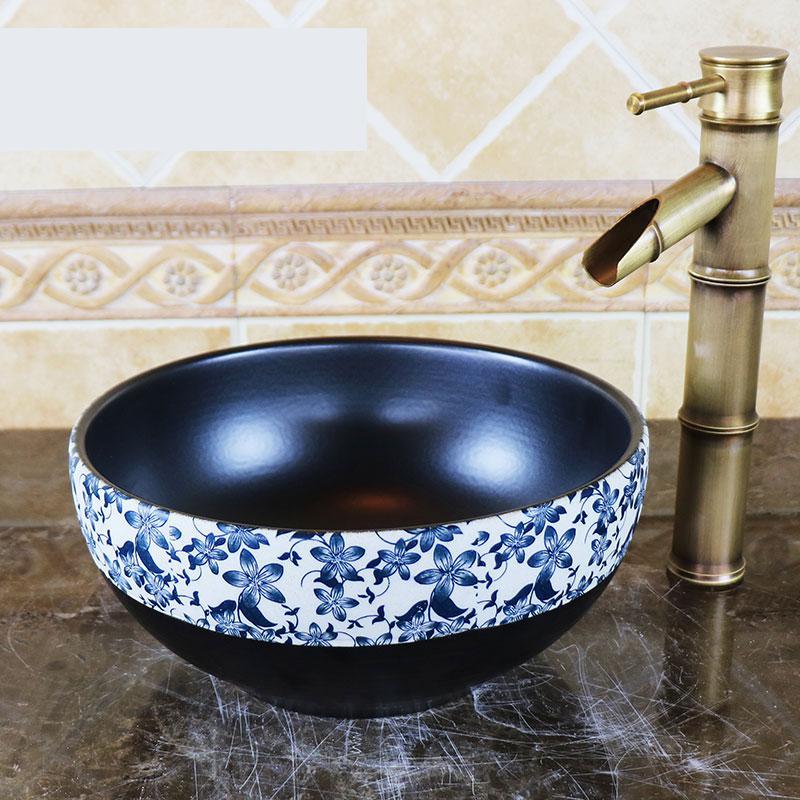 Mini Ceramic Round Hand Painted Basin