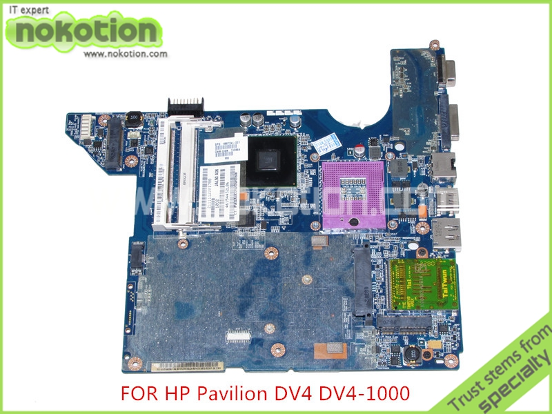 NOKOTION 486724-001 LA-4101P Laptop Motherboard for hp DV4 DV4t dv4-1000 dv4t-1100 DDR2 GM45 Mainboard top quality for hp laptop mainboard 640334 001 dv4 3000 laptop motherboard 100% tested 60 days warranty