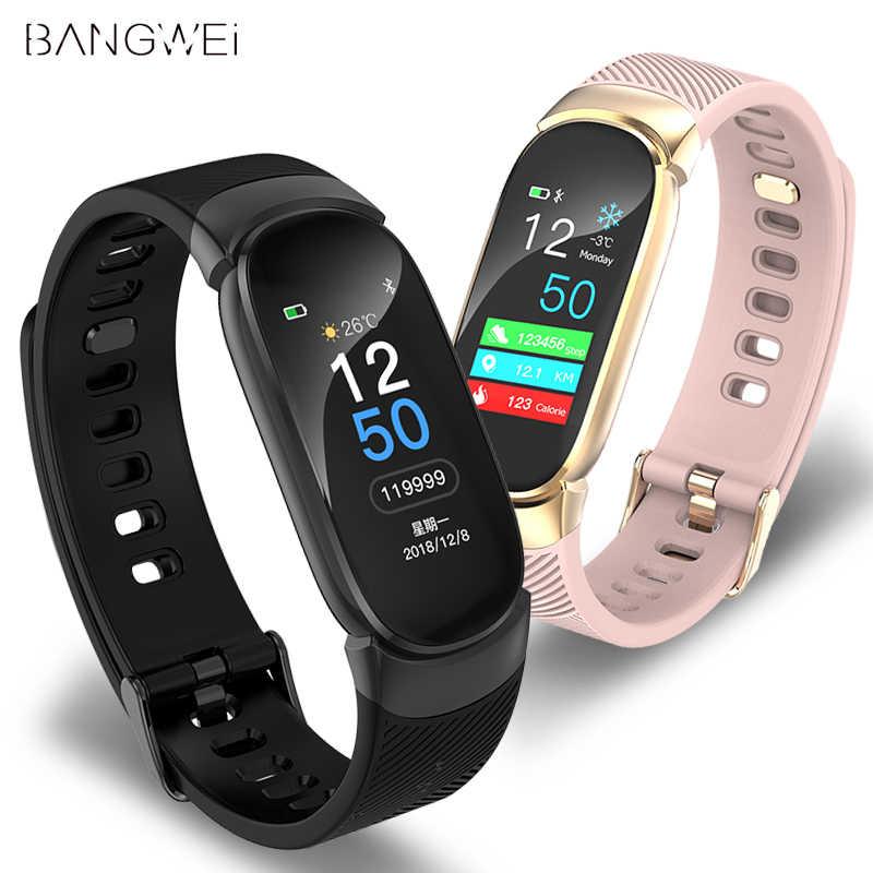 BANGWEI ผู้หญิงสมาร์ทนาฬิกา LED กันน้ำสมาร์ทผู้ชายนาฬิกาหัวใจความดันโลหิตกีฬานาฬิกา Pedometer นาฬิกาสำหรับ Android IOS