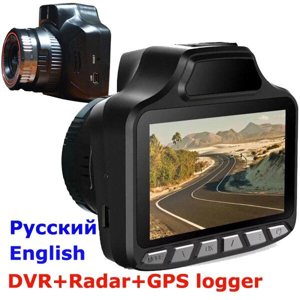 Real Full band Russian version S8 Car Radar Detector 3-inch TFT Screen Car DVR Camera 150 lens Radar detector GPS Tracker logger