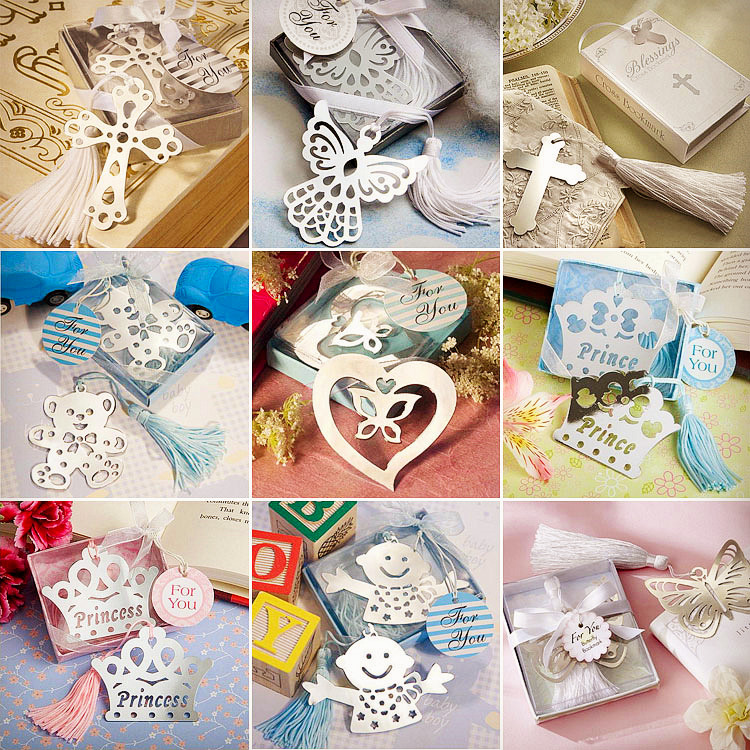 Student Cute Kawaii Heart Flower Metal Bookmark Creative Crown Angel Book Markers For Gift School Supplies 3001