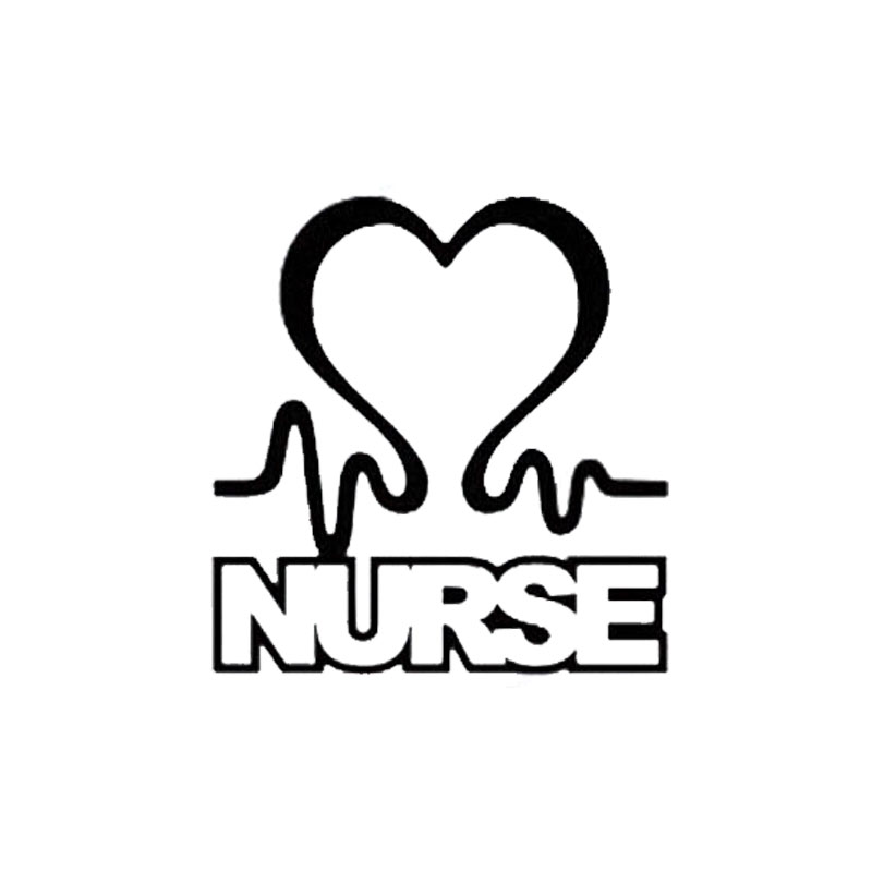 8 5cm8 8cm car accessories personality love nurses vinyl window decals black silver c5 0544 in car stickers from automobiles motorcycles on