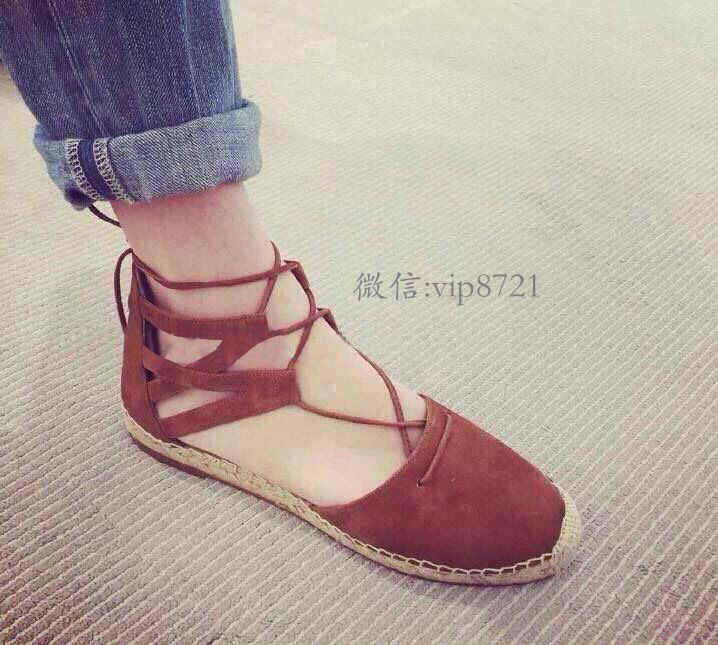 2015 Designer Brand Genuine Leather Fisherman Shoes Espadrilles Ankle Strap  Flats Closed Toe Sandals Plus Size women s Shoes F7-in Women s Sandals from  ...