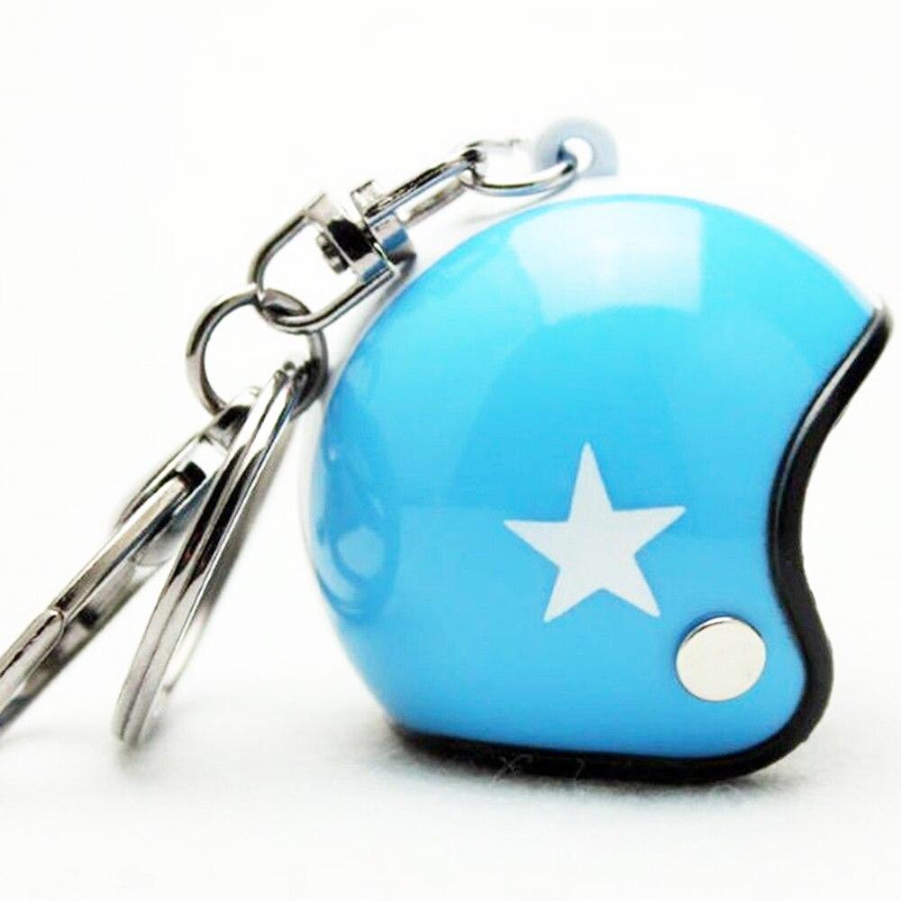 VEHEMO шлем 4,5*4,2 см автомобильные ключи Висячие капли брелок аксессуары Ювелирные наборы автомобильные запчасти - Название цвета: blue whiet