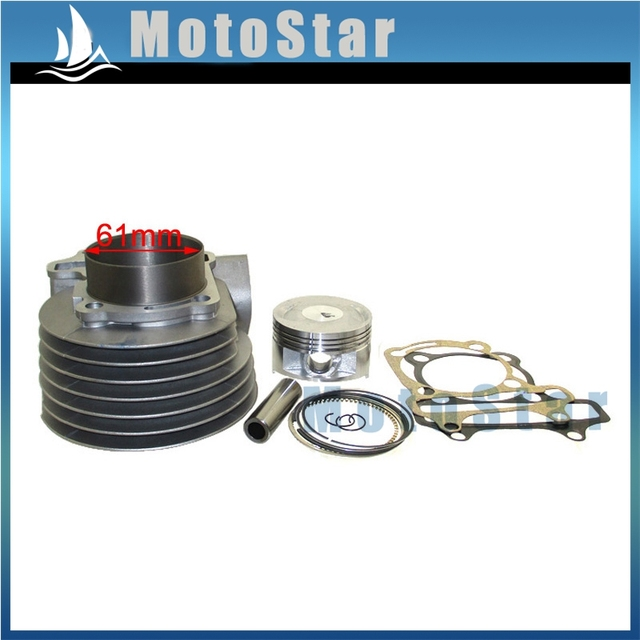US $42 5 30% OFF| 61mm Cylinder 180cc Big Bore Kit For GY6 125cc 150cc  1P52QMI 1P57QMJ Engine Scooter Moped ATV Quad-in Pistons & Rings from
