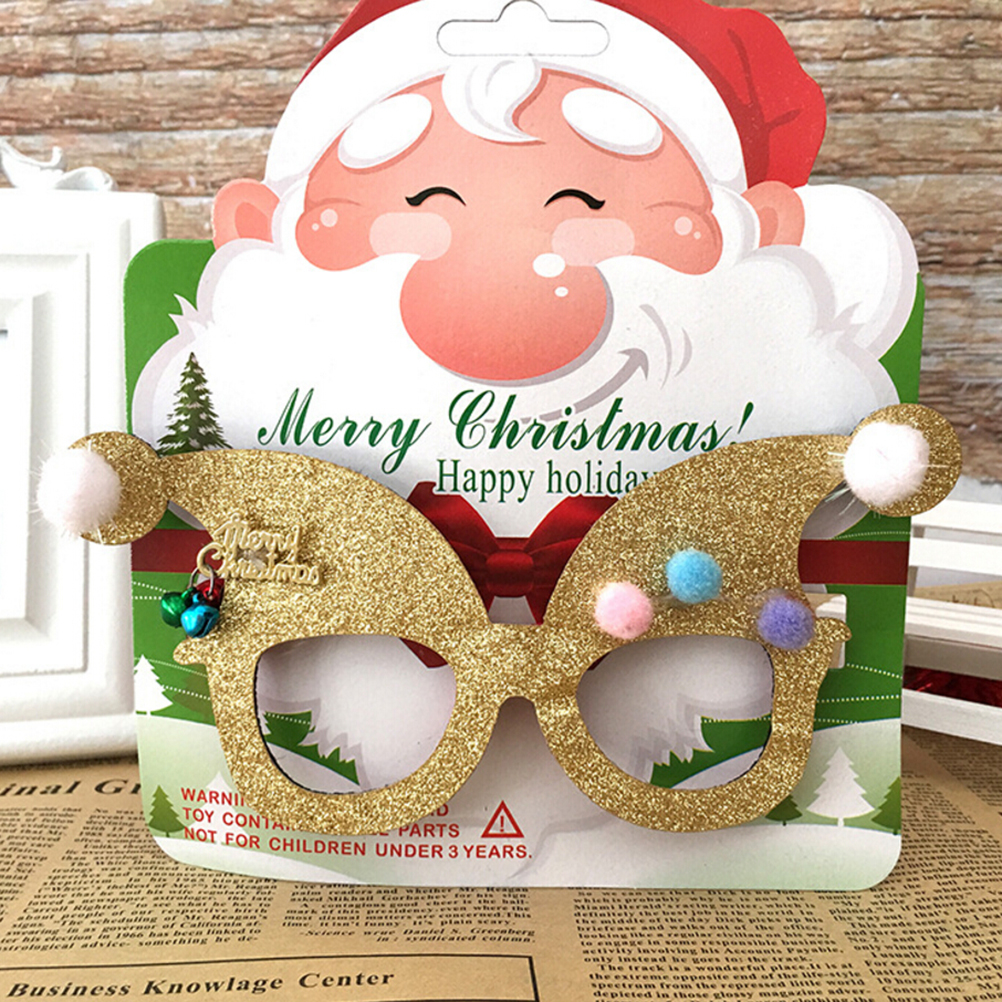 Men's Eyewear Frames Logical Novelty Christmas Decoration Glasses Children Christmas Gifts Holiday Supplies Paper Led Party Creative Glasses
