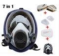 6800 7 unids traje de Máscara De Gas Respirador de máscara de Cara Completa Para la Pulverización de Pintura De envío libre