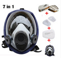 6800 7pcs suit  Gas Mask Full Face Facepiece Respirator For Painting Spraying free shipping