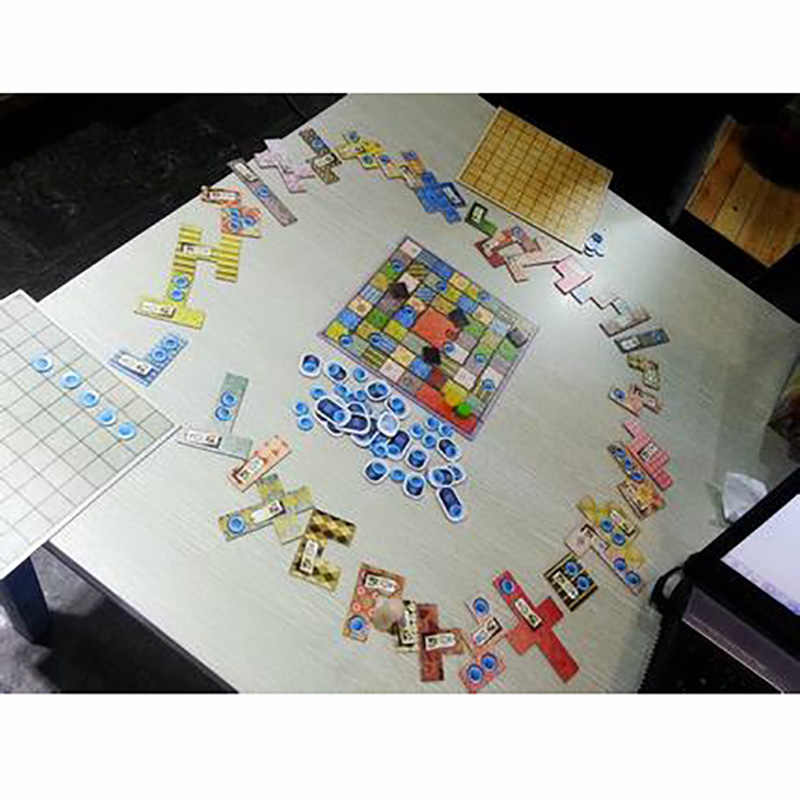 Hotsale のパッチワークのボードゲーム 2 プレーヤーおかしいパーティーゲーム紙カード中国/英語版送料無料