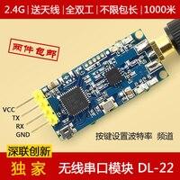 Módulo ZigBee 2.4G módulo transceptor de série sem fio remoto através da transmissão do comprimento do pacote e enviar e receber