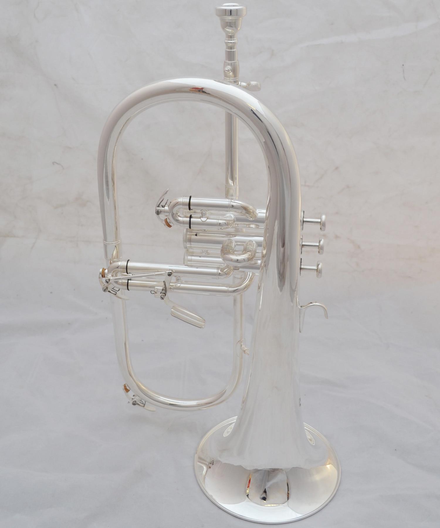 Музыка Fancier клуб Профессиональный flugelhorn 183S посеребренный с чехол для профессиональных flugelhorn s Bb желтый Латунный Колокольчик