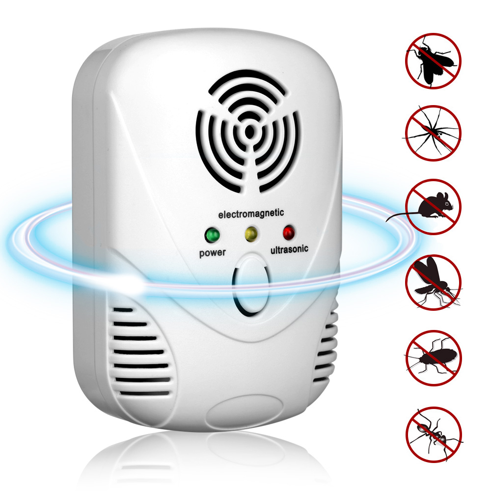 Electronic Ultrasonic Pest Repellers Insect Mouse Repeller EU/US Plug Anti Fly Killer Rodent Harmless Rat Pest Reject Control