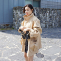 [XITAO] New autumn European wind casual style preppy single breasted solid color long straight form female trench LZB-001