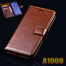 Lenovo A1000 Case Cover Luxury Leather Flip Phone Bags For Lenovo A1000 1000 Ultra Thin Business Wallet Phone Bags Case Cover