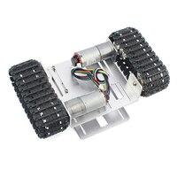 Mini DIY Crawler Robot Chassis Aluminium Alloy Tank Car Chassis Bottom Intelligent Toy
