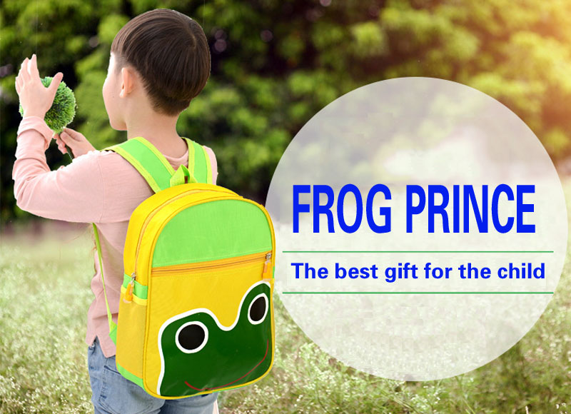 2018 Cute Cartoon Animal Frog School Bags For Girl Boys Children