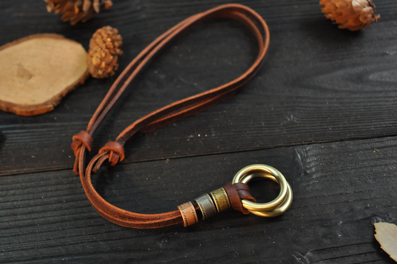 NIUYITID 100% Genuine Leather Men Necklaces Retro Cheap Pendants Neckless Adjustable Cool Male Jewelry (2)