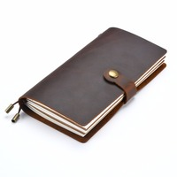Moterm Genuine Leather Notebook Handmade Travelers Notebook Classic Vintage Style Cowhide Diary Journal Refillalbe Free Shipping