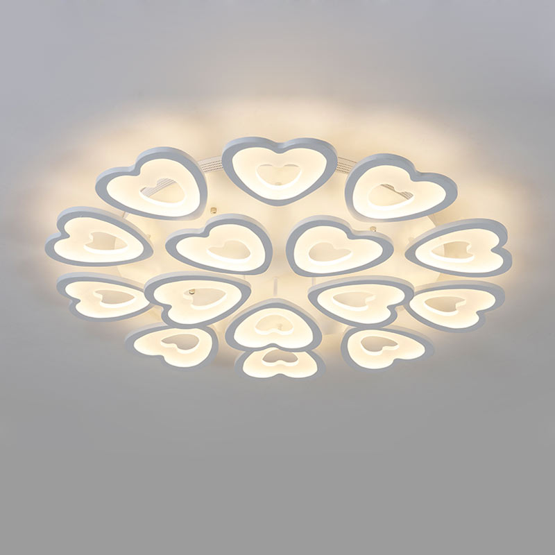 Modern Heart shaped Acrylic Ceiling Lamp Bedroom Kitchen Living Room Led Lights Fixtures White Iron Indoor Decor Home Lighting japanese style living room bedroom led ceiling lights home indoor decoration lighting light fixtures modern led ceiling lamp
