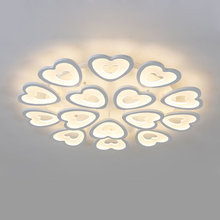 Modern Heart shaped Acrylic Ceiling Lamp Bedroom Kitchen Living Room Led Lights Fixtures White Iron Indoor Decor Home Lighting