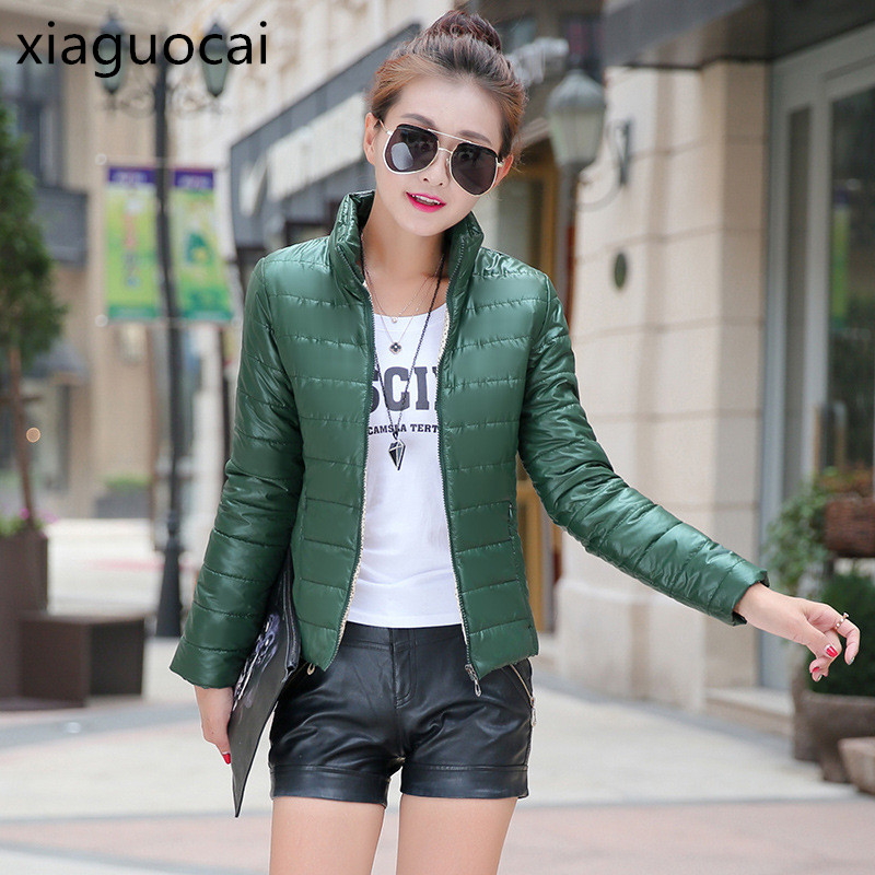 Green Fashion   Parkas   Women Coats Open Stitch Waterproof Female Winter Coats Lightweight Polyester Taffeta Ladies Jackets Z392 35