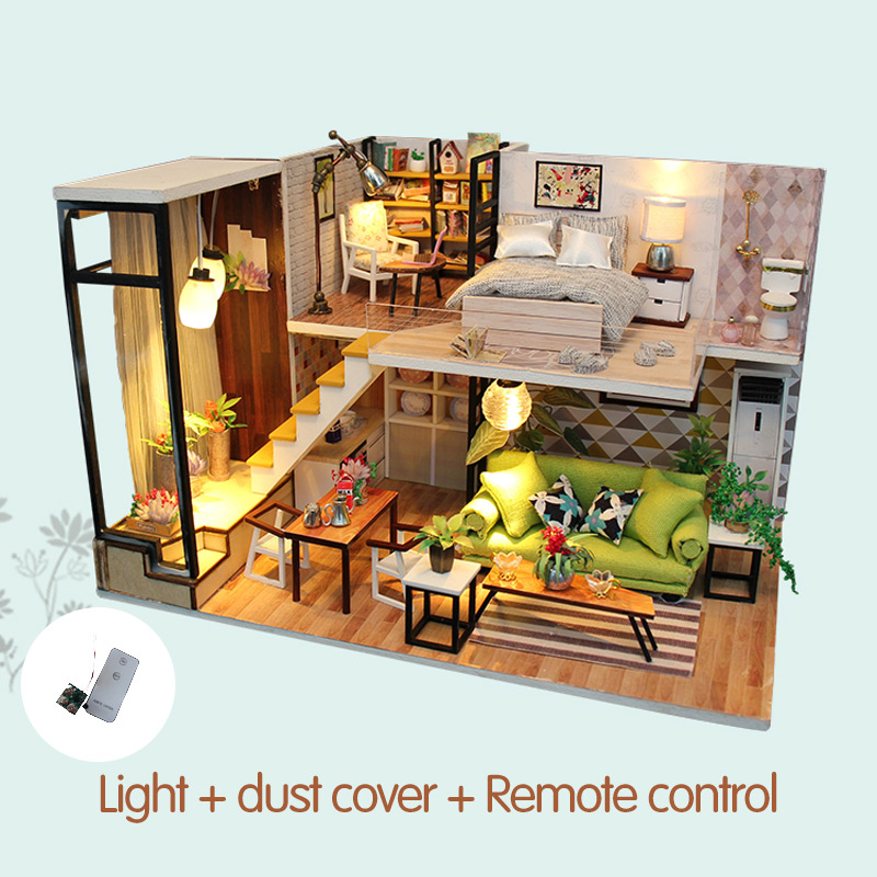 Architecture/diy House/mininatures Have An Inquiring Mind Diy Model Doll House Miniature Dollhouse Furniture Led Light 3d Wooden Mini Dollhouse Handmade Grils Toys For Children M030 Packing Of Nominated Brand