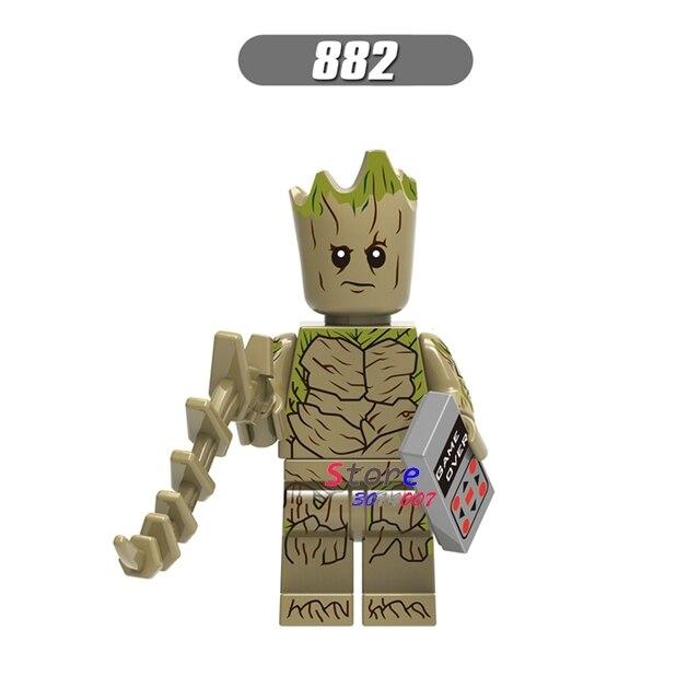 Vingadores Marvel Thanos 3 Infinito Guerra único MCU Feiticeira Escarlate Guardians Of the Galaxy blocos de construção de brinquedos para crianças